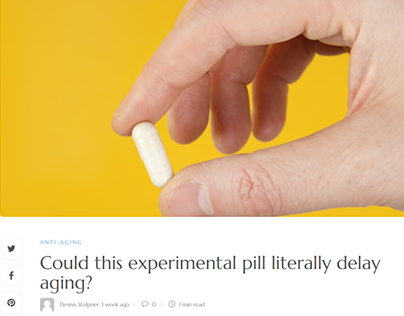 Could this experimental pill literally delay aging?