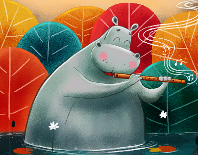 |  Hippo with flute |