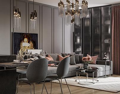 Apartment in Art Deco Style