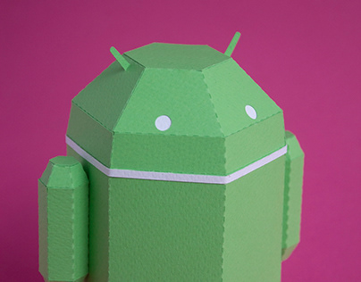 Google / Android paper toy