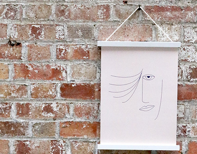 ABSTRACT A3 FACE ART PRINT