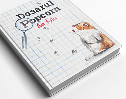 """""""Dosarul Popcorn"""" by Ana Rotea, Book cover design"""