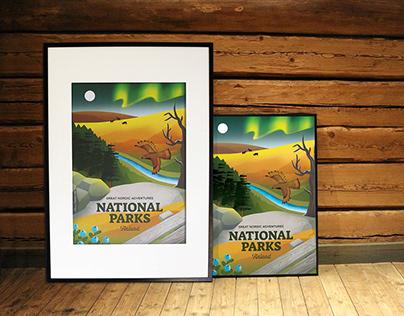 Travel poster – National Parks Finland
