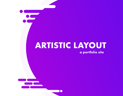 Personal Site with Artistic Layout