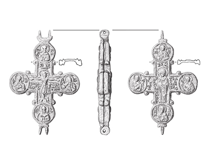 Illustrations of Byzantine enkolpions