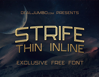 Strife Thin Inline – Free Font