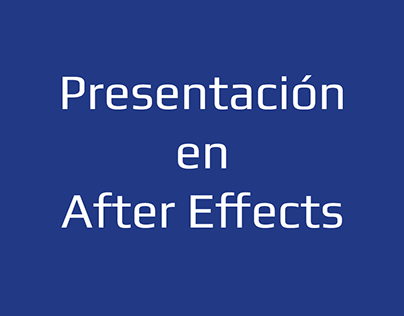 Presentación en After Effects