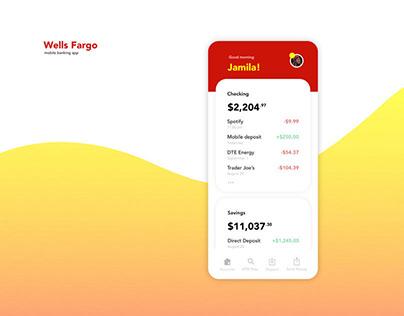 Wells Fargo App Redesign