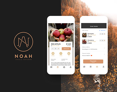 Noah - local Swedish farm products | UI/UX