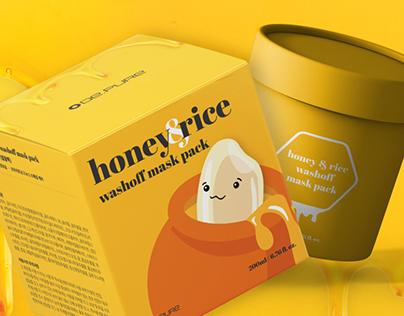 Honey & Rice washoff mask pack