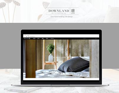 Downland bedding web design