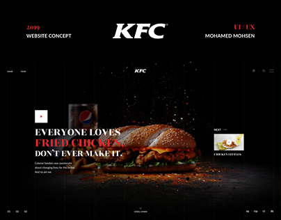 KFC Website Redesign