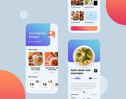 Chef App, Food Recipes App, UI/UX Designer
