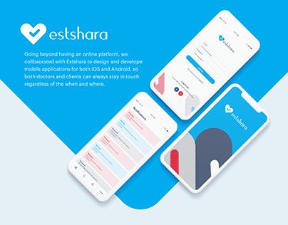 Estshara App UI/UX Design.
