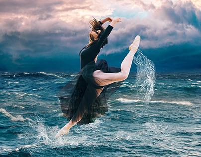 Dancing on stormy water