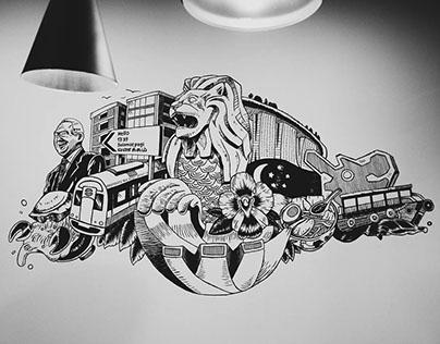 """""""Home"""" - Wall Mural - YUCKYMESHI x UNICITY"""