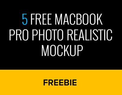 5 free MacBook Pro photo realistic mockup