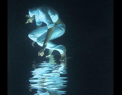 White on Black - Underwater Portrait