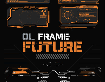 Futuristic frames, callouts for user menu interface.HUD
