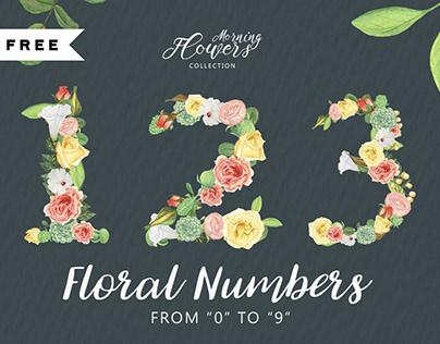 FREE | Floral Numbers