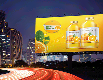 Orange juice Highway billboard