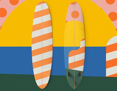 SurfUp — Surfboard Illustration