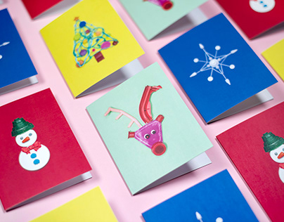 Beach Plastic Holiday Cards