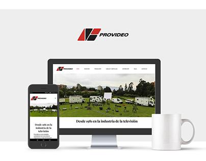 Provideo TV Web Design