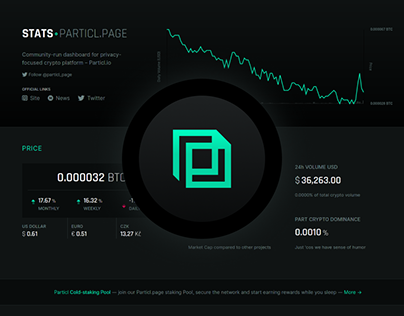 Particl.page Stats & Pool + Branding