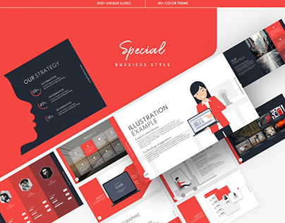 Bussiness Style PowerPoint Theme Template