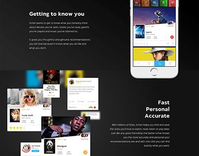 Flat Parallax Responsive Landing Page