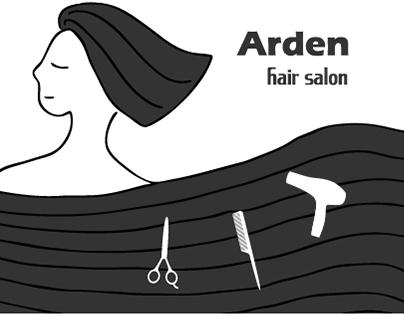 Arden hair salon 網宣插畫/平面設計/產品攝影