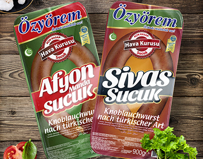 Folie Produktdesign für Özyörem Afyon und Sivas Sucuk