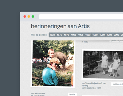 Artis 175 years online campaign