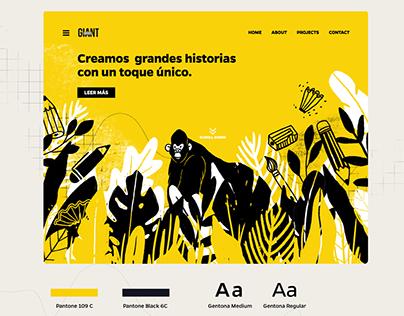Giant Stories - web concept