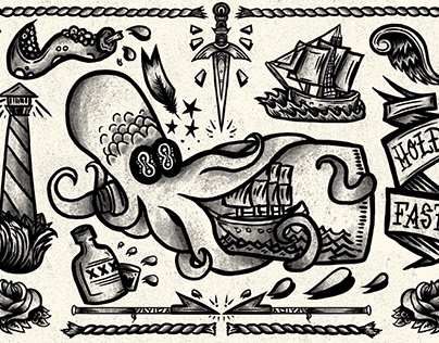 Tattoo Flash - Nautical