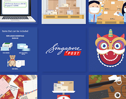 Singapore Post Social Media Content