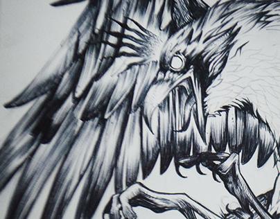 Blackwork - Johann Fischer Crow