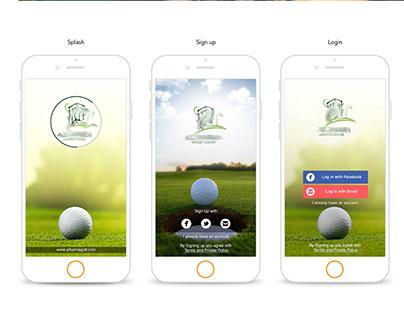 UI / UX Golf Club App & website