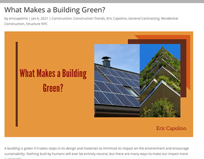 What Makes a Building Green?