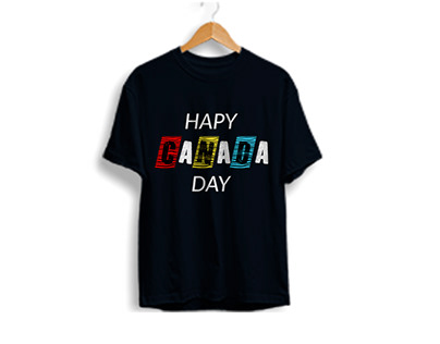 Canada day T-shirt design for young boy