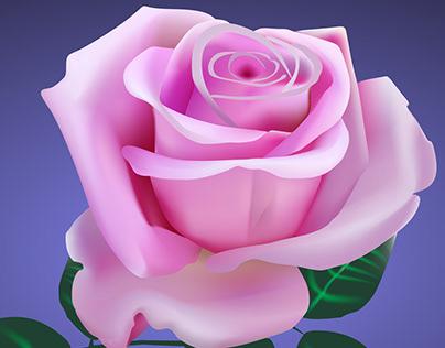Rose in Corel Draw
