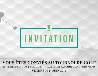 Invitation Golf Mercedes