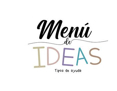 Menú de ideas