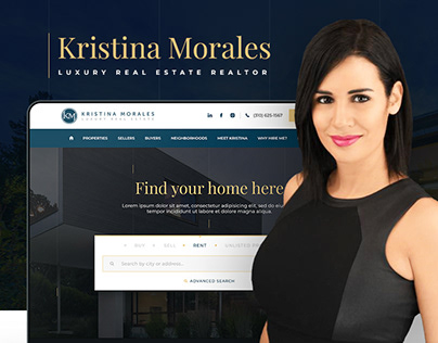 Kristina Morales — Real Estate Agent Website Design