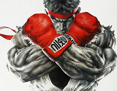 Street Fighter - Óleo