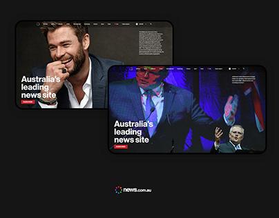 News.com.au Website/UI Redesign - Free UI Kit Download