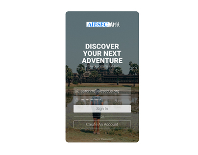 UI/UX: AIESEC Experiences (Prototype)