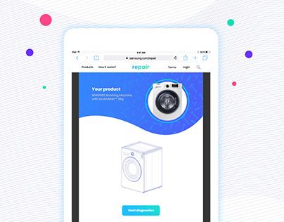Samsung Repair | Online Service Concept