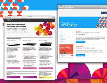 IBM :: Newsletters y Landing Page